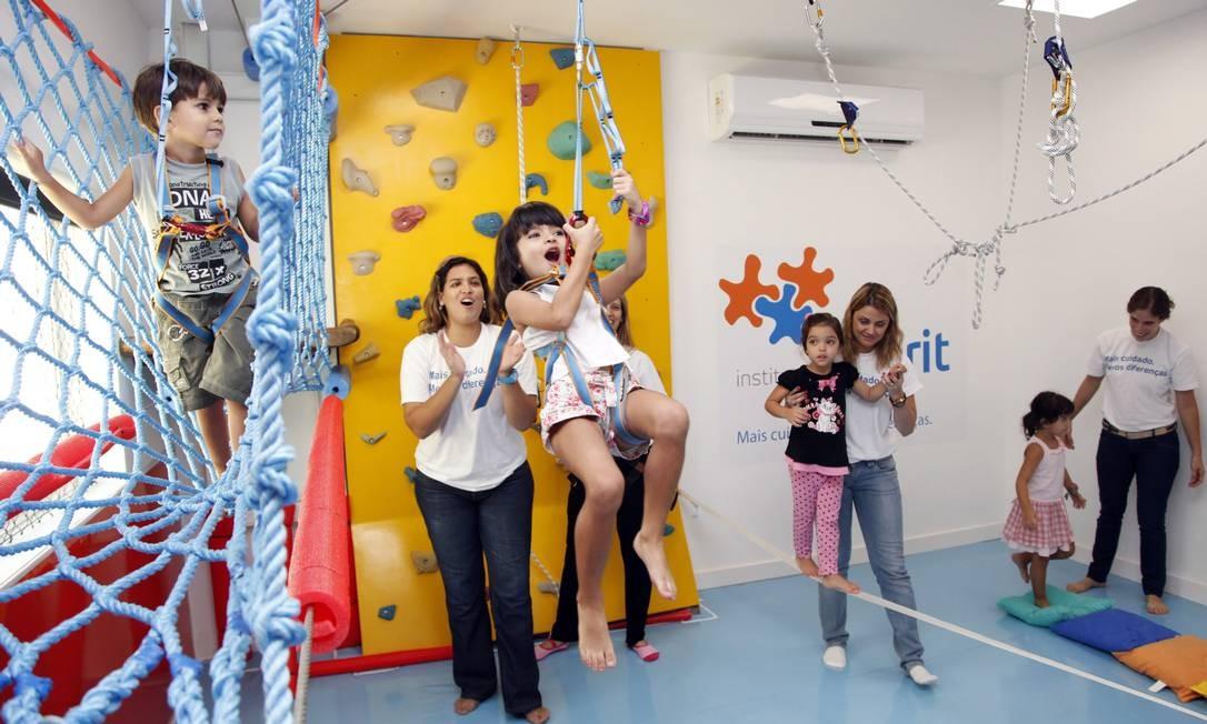 No Rio, Instituto Priorit busca desenvolver crianças com autismo Foto: Fabio Rossi / Agência O Globo