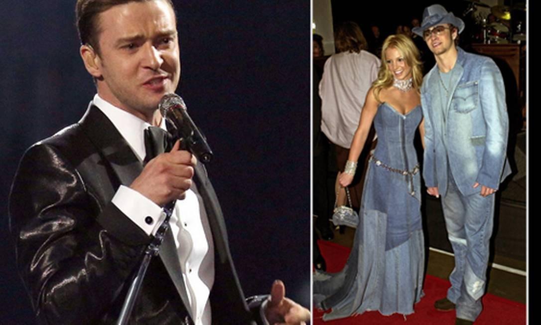 Justin Timberlake: o depois e o antes Foto: AP/Arquivo