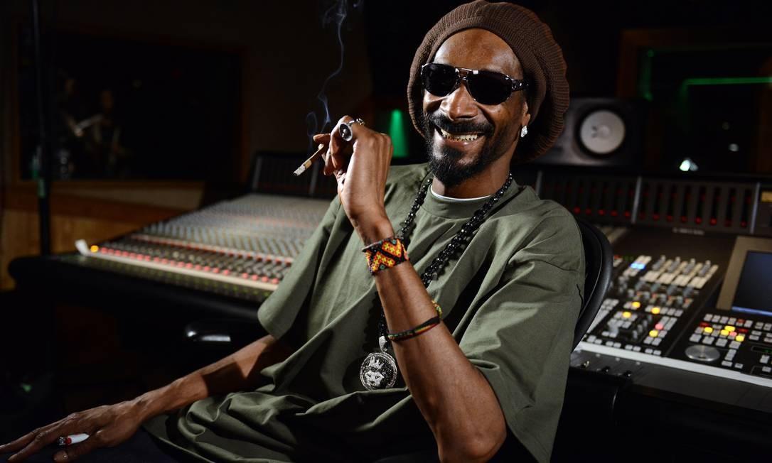 Snoop Lion em estúdio de gravação em Los Angeles, neste mês Foto: Jordan Strauss / AP