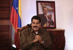 Maduro em uma entrevista para a televisão venezuelana em 13 de março Foto: HANDOUT / REUTERS