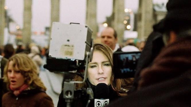 Correspondente em Roma há 14 anos, Ilze já fez reportagens em vários pontos do planeta Foto: Fotos de arquivo pessoal
