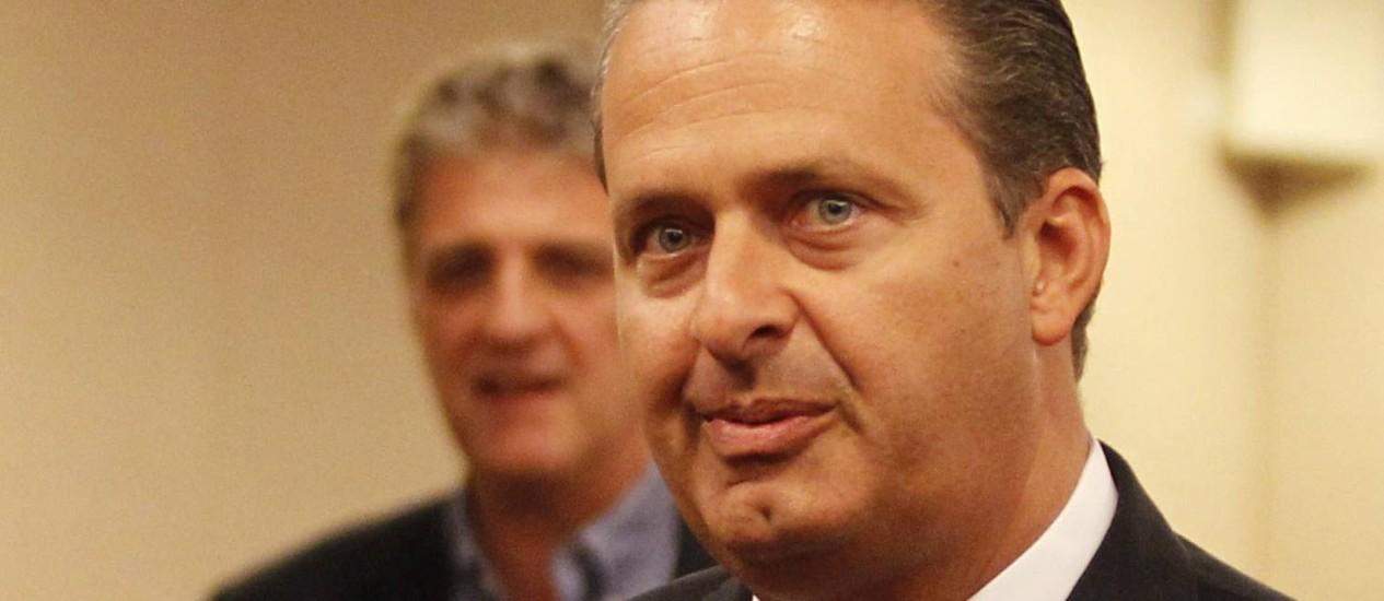 Governador de Pernambuco e presidente do PSB, Eduardo Campos Foto: Agência O Globo / Marcos Alves