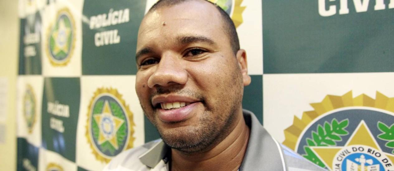 Luiz carlos Gonçalves de Souza, o LC, acusado de chefiar o tráfico na Favela Nova Holanda Foto: Urbano Erbiste / Agência O Globo