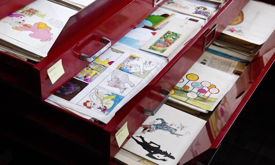 O IMS abrigará desenhos, telas e recortes encadernados Foto: Mônica Imbuzeiro