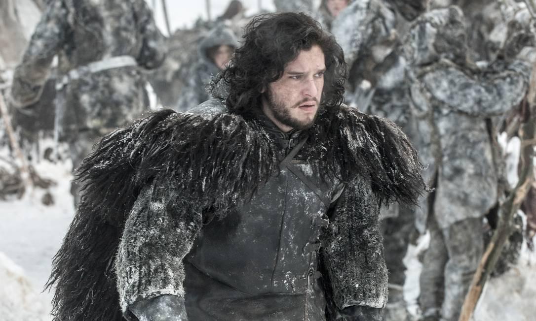 O ator Kit Harrington como Jon Snow na série 'Game of thrones' Foto: HELENSLOAN / Divulgação