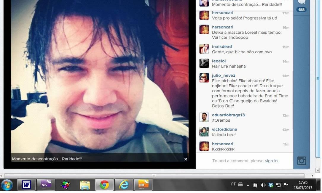 Foto do pastor Marco Feliciano no Instagram vira piada nas redes sociais Foto: Reprodução de internet