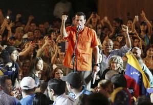 Capriles num comício em Maracaibo: de acordo com presidente, opositor seria alvo de complô Foto: STRINGER/VENEZUELA / REUTERS