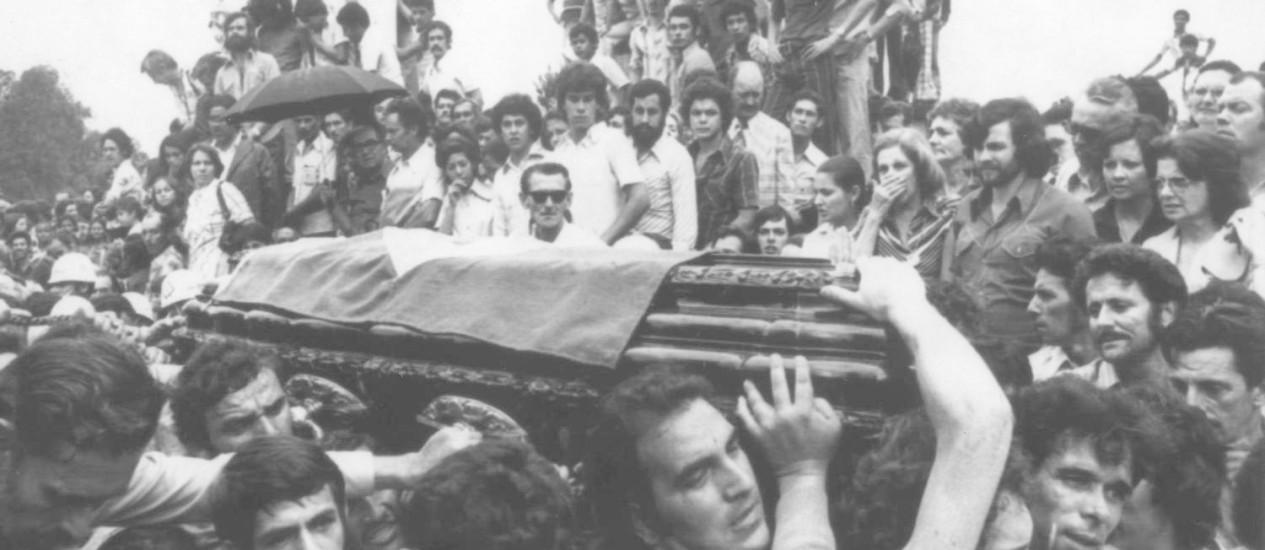 Enterro de João Goulart em São Borja (RS) - 07/12/1976 Foto: Arquivo O Globo