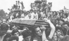 Jango. Enterro do ex-presidente João Goulart em São Borja, no Rio Grande do Sul Foto: 07/12/1976 / Arquivo O Globo