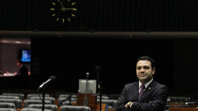 Pastor Marco Feliciano (PSC-SP) no plenário da Câmara Foto: Ailton de Freitas / Agência O Globo