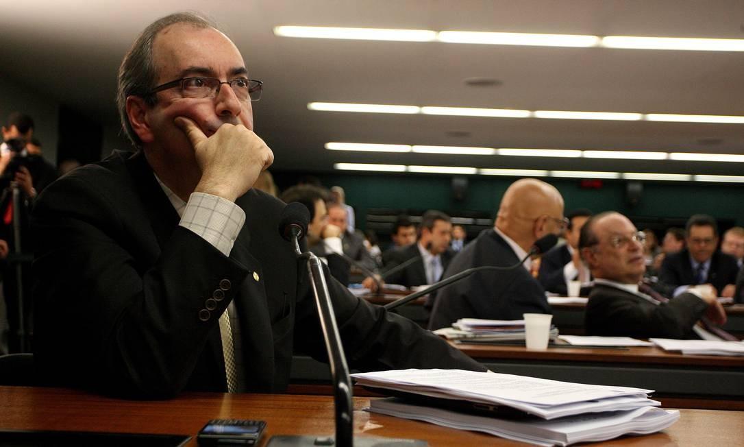 Líder do PMDB na Câmara, Eduardo Cunha Foto: Agência O Globo / Ailton de Freitas