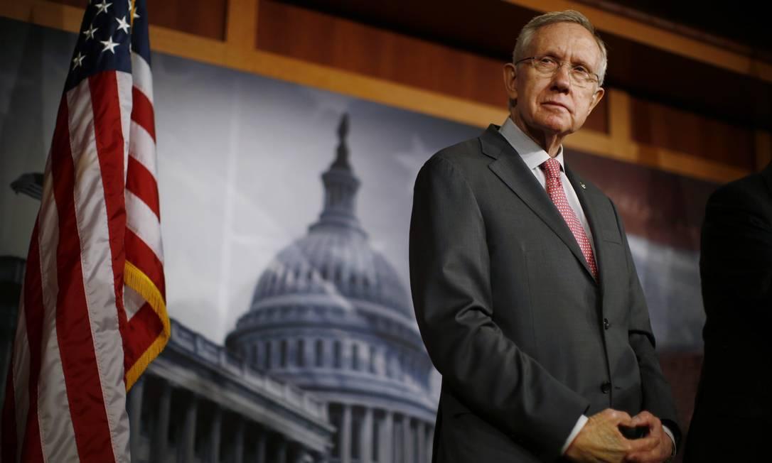 Líder democrata no Senado, Harry Reid, no Capitólio no fim de fevereiro Foto: JASON REED / Reuters