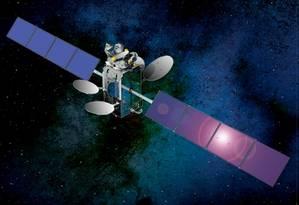 Simulaçao de satélite geoestacionários em órbita Foto: Divulgação