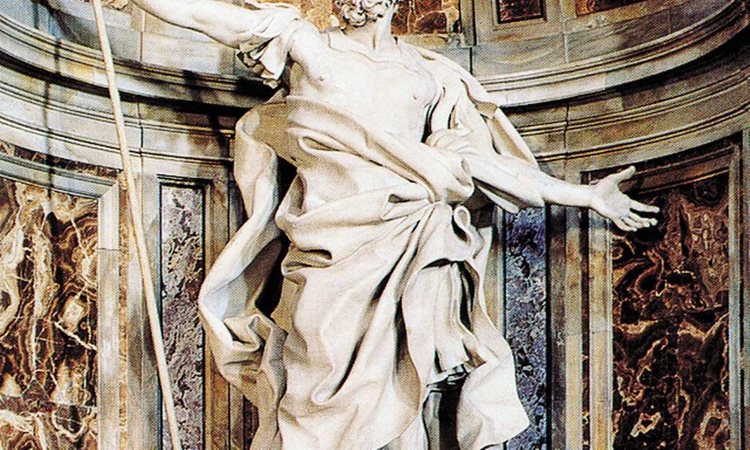 """Já viu o rosto de São Longuinho? Bernini fez a estátua do santo que está dentro da Basílica de São Pedro Foto: Livro """"Bernini"""" / Reprodução"""