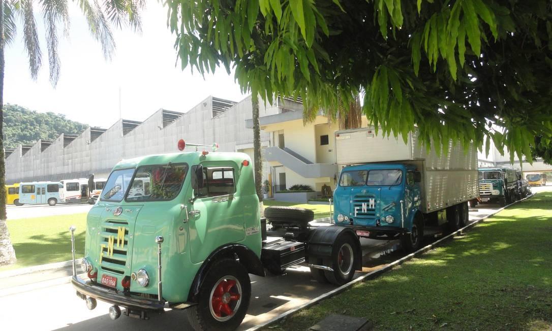 Décadas depois, os caminhões Fenemê voltaram à fábrica onde foram construídos Foto: Agência O Globo