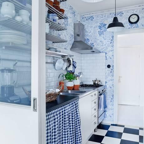 Retrô e contemporâneo se misturam em cozinha na Suécia Foto: Reprodução/ Internet