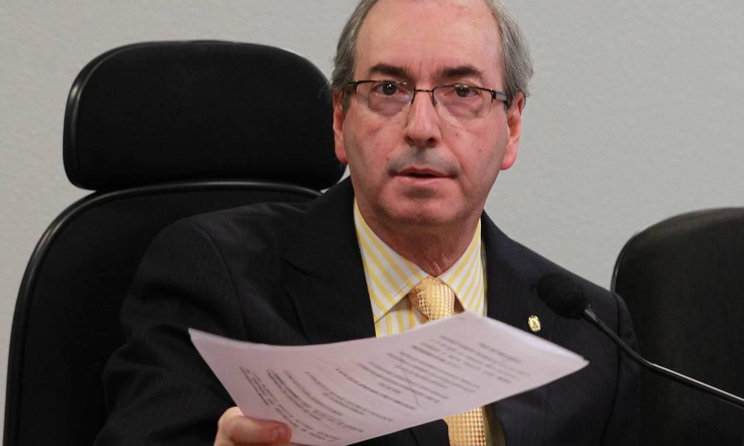 Líder do PMDB na Câmara, deputado Eduardo Cunha Foto: Ailton de Freitas / Agência O Globo
