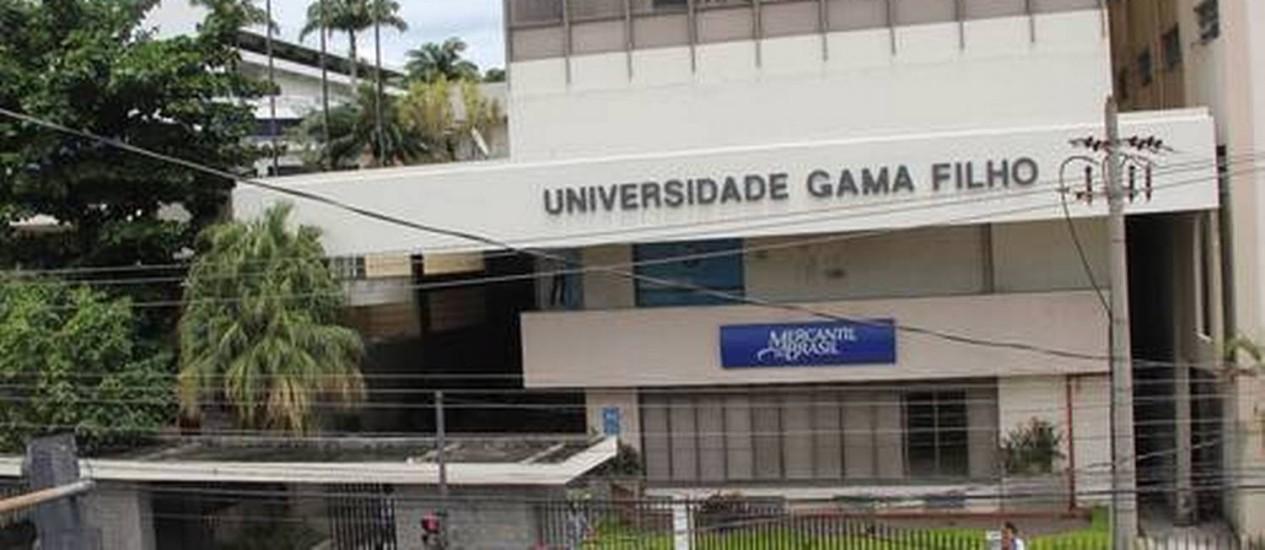 Alunos da Gama Filho estão sem aula Foto: Gabriel de Paiva / Agência O Globo