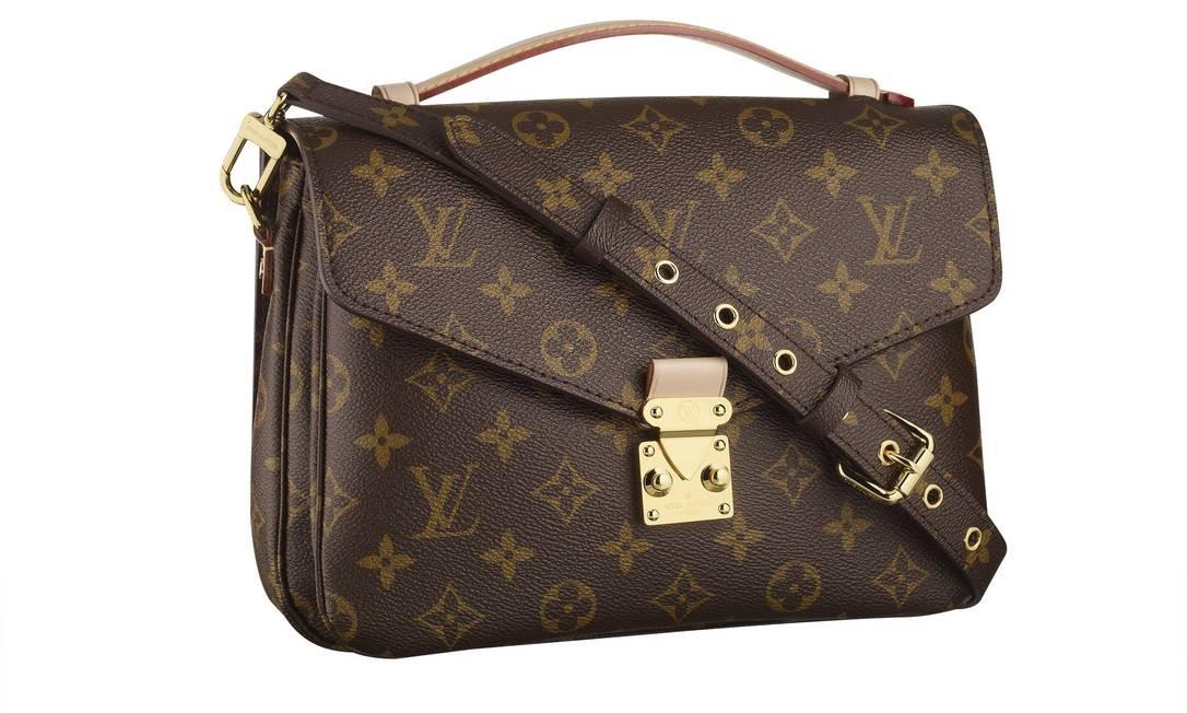 Na Louis Vuitton do VillageMall, as bolsas mais procuradas são as do modelo recém-lançado Metis Monogram, feitas de couro natural. Uma das opções é a Metis Monogram Pochette Divulgação/Press Attache