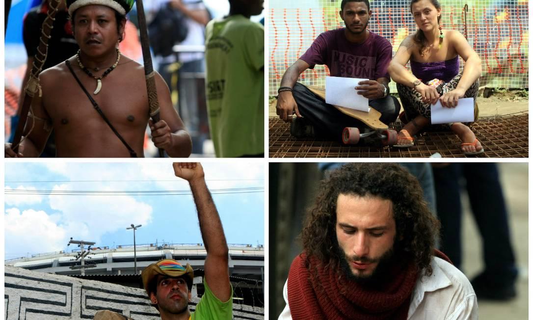 Gente da Aldeia Maracanã Foto: Fotos de Guilherme Leporace / O Globo