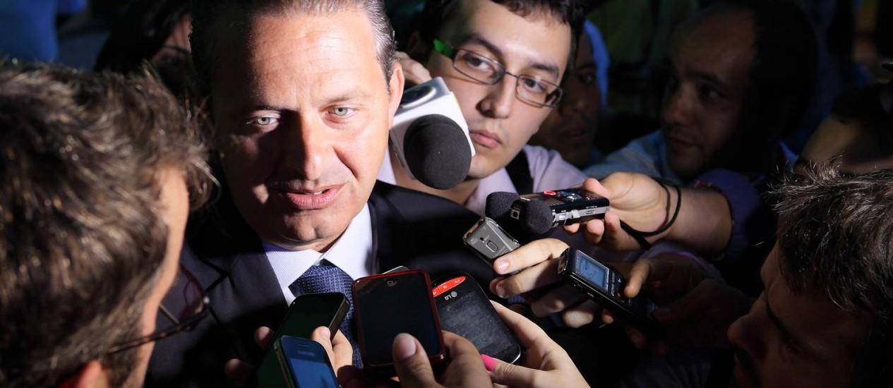 Eduardo Campos diz que a hora é de conversar Foto: Hans Von Manteuffel / Arquivo O Globo