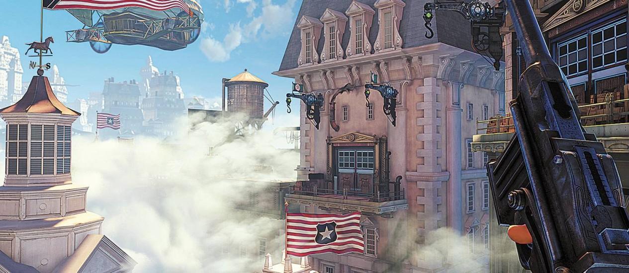 Game mistura referências culturais como George Washington e os Beach Boys, ideias de seu criador, o nerd assumido Ken Levine Foto: Divulgação