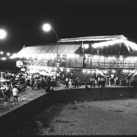 O Circo Voador, ainda instalado na Praia do Arpoador, abriu espaço para o rock nacional Foto: Arquivo O Globo 17/02/1982 / Athaide dos Santos