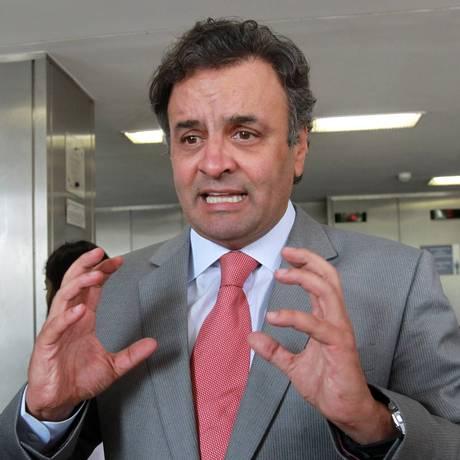 O senador Aécio Neves (PSDB-MG) Foto: Givaldo Barbosa / Arquivo O Globo
