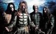 Rob Zombie (à frente) e sua banda: o cantor americano promete trazer sua produção inteira ao Palco Sunset/