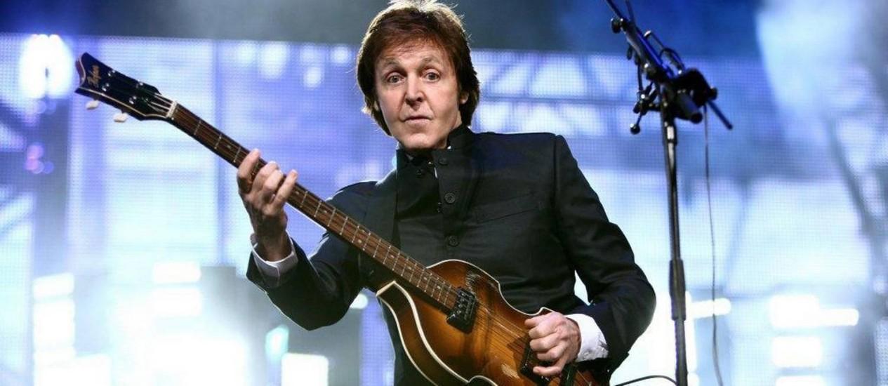 Paul McCartney em show no Rio de Janeiro, em maio de 2011 Foto: Divulgação