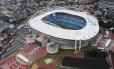Vista aérea do estádio João Havelange (Engenhão), na véspera da inauguração