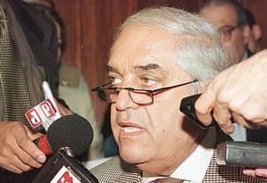 Nicolau dos Santos Neto foi condenadoem 2005 a 26 anos e seis meses de prisão, por desvio de R$ 170 milhões na construção da sede do Tribunal Regional do Trabalho (TRT) Foto: Yone Guedes / Divulgação