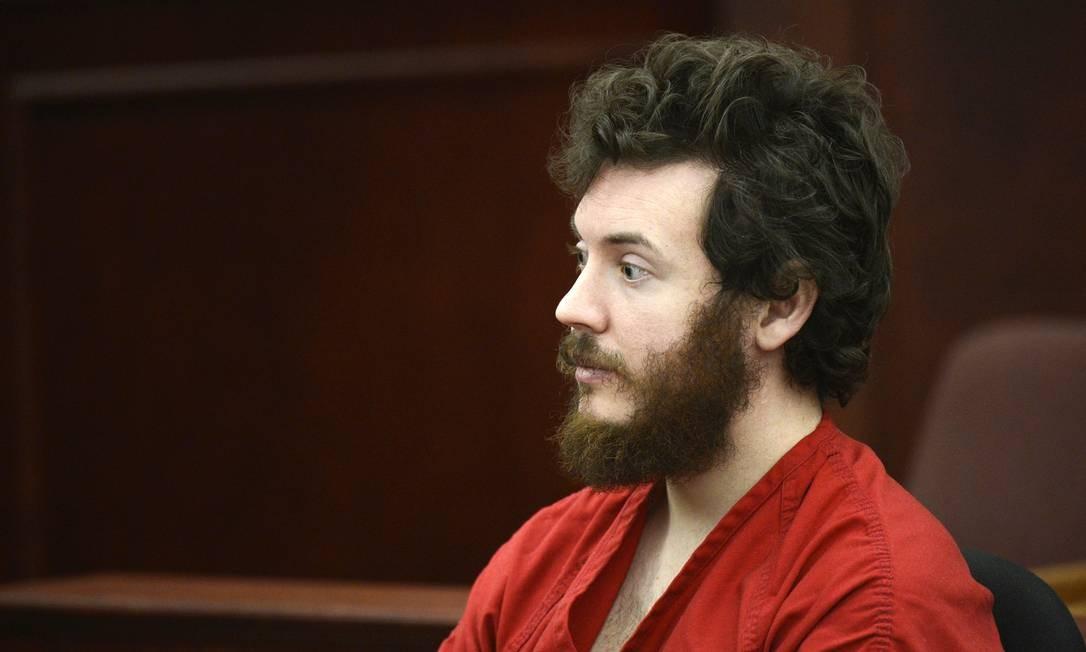 James Holmes no tribunal no começo do mês Foto: RJ Sangosti / AP