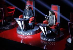 Marco Nanini e Marieta Severo no show de apresentação da nova programação da TV Globo Foto: Marcos Alves / Agência O Globo