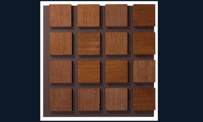 Revestimento de parede Fines Legno, de madeira e porcelanato. Da Mosarte, com preço sob consulta Divulgação