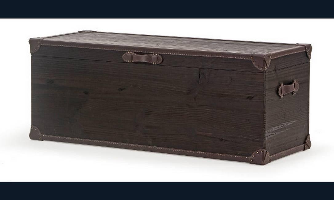 Baú Lohan, da Artefacto Beach & Country, por R$ 4.440 Divulgação