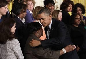 Obama se reúne com ativistas e vítimas da violência na Casa Branca: massacre não pode ser esquecido Foto: YURI GRIPAS / REUTERS