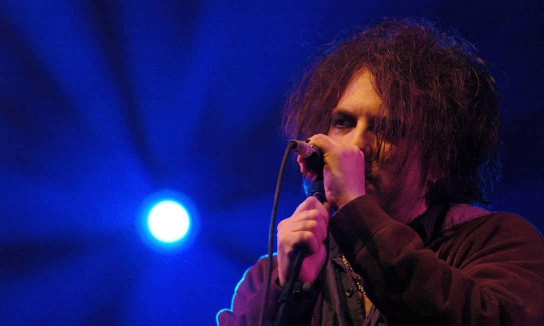 O cantor e guitarrista Robert Smith, da banda The Cure Crédito: Foto: Haydn West / Divulgação