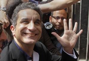 Bassem Youssef foi libertado sob fiança de US$ 2.200 Foto: Amr Nabil / AP
