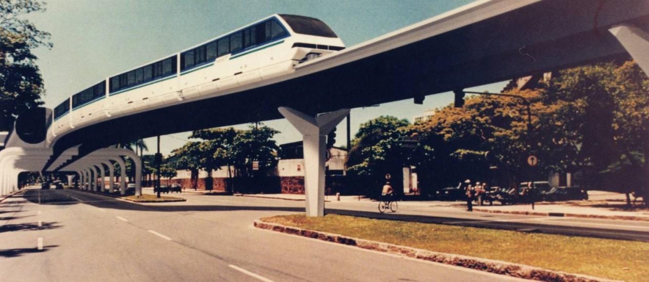 Projeto do Trem japonês na Lagoa Foto: Agência O Globo/Marizilda Cruppe