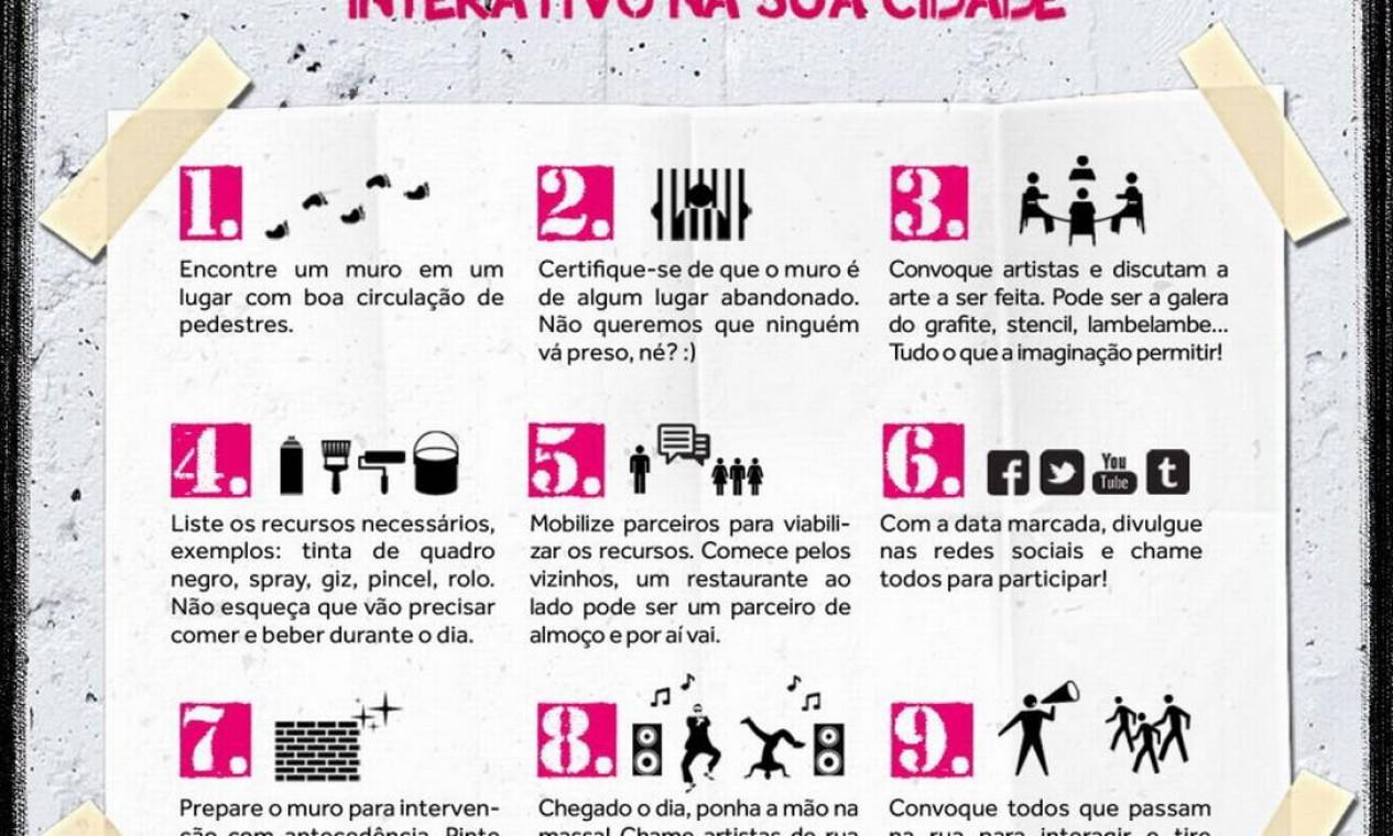 Gabriele Valente ensina a fazer um muro interativo em 9 passos Foto: Divulgação/Gabriele Valente