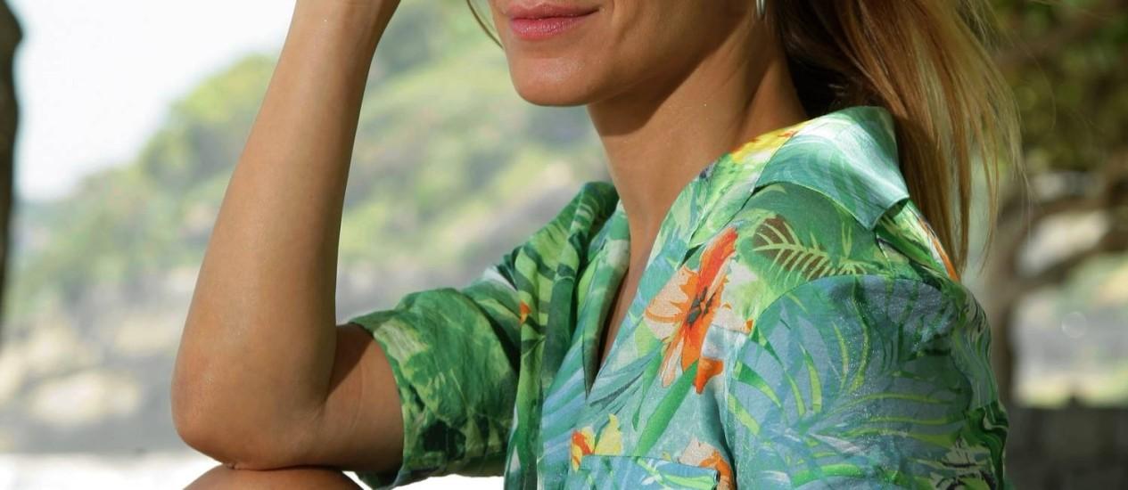 Carolina Dieckmann, em São Conrado, RJ Foto: Fábio Guimarães/Agência O Globo.