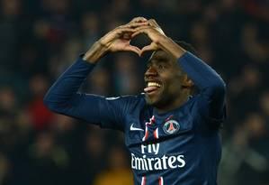 Matuidi marcou o gol de empate do PSG aos 49 minutos do segundo tempo Foto: FRANCK FIFE / AFP