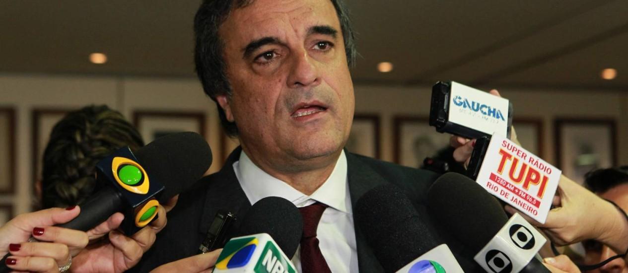 Cardozo concede entrevista após reunião em Brasília Foto: Givaldo Barbosa / Agência O Globo