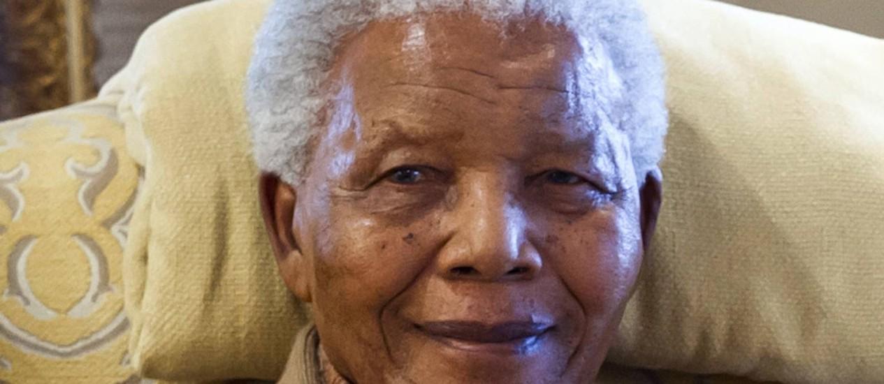 O ex-presidente sul-africano em sua casa, em julho do ano passado Foto: BARBARA KINNEY / AFP