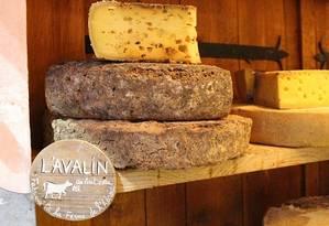 O queijo L'Avalin, exclusividade da loja La Fermette de Claudine Foto: Fernanda Dutra / O Globo