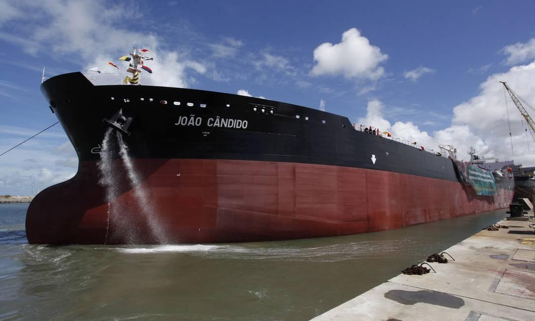 Navio petroleiro João Cãndido da Petrobras Foto: Divulgação