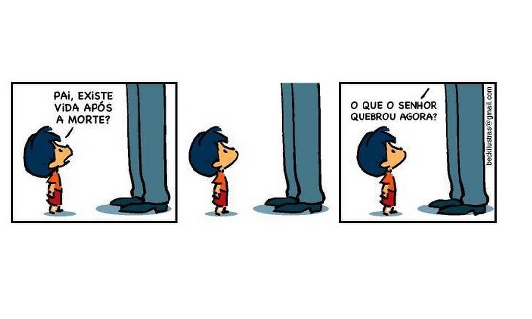 Além de crítico, Armandinho é travesso como toda criança - e lembra Calvin Foto: Facebook