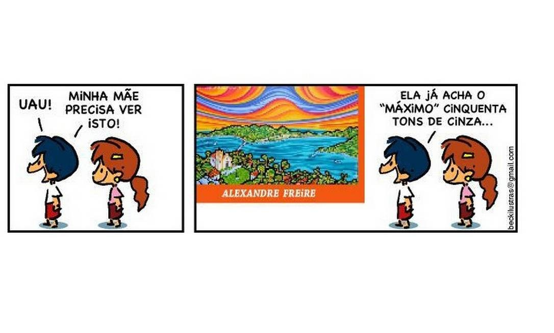 """Em história, personagem faz trocadilho com o best-seller """"50 tons de cinza"""" Foto: Facebook"""