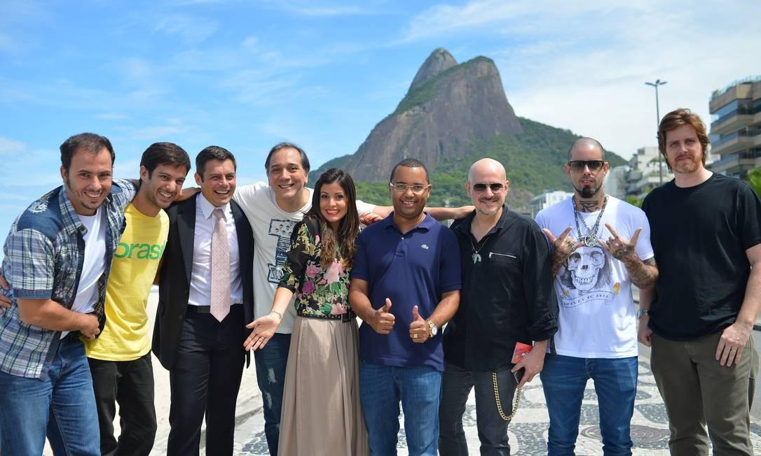Atores e músicos que vão participar do Viradão Carioca foram apresentados na coletiva desta quinta Foto: TV Globo / Bruno de Lima